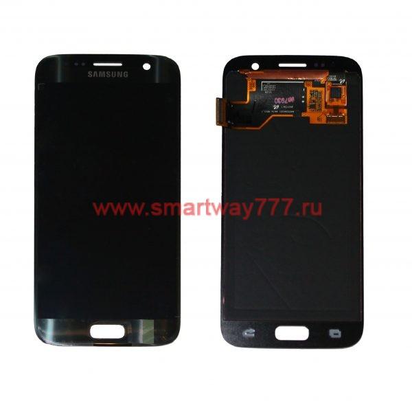 Дисплей для Samsung S7 / G930 Чёрный (100% ОРИГИНАЛ сервис)