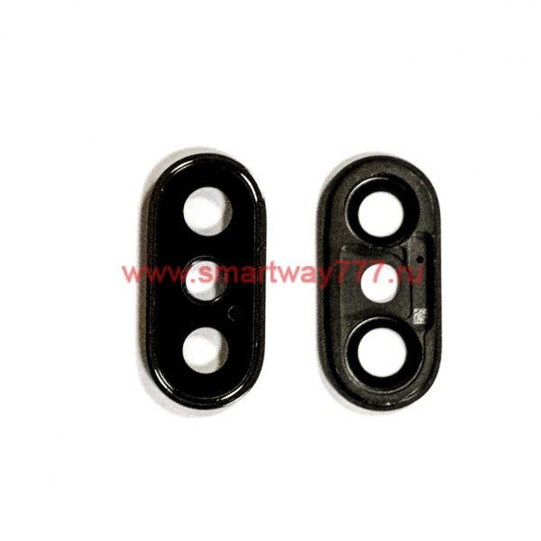 Стекло камеры для iPhone X Черное