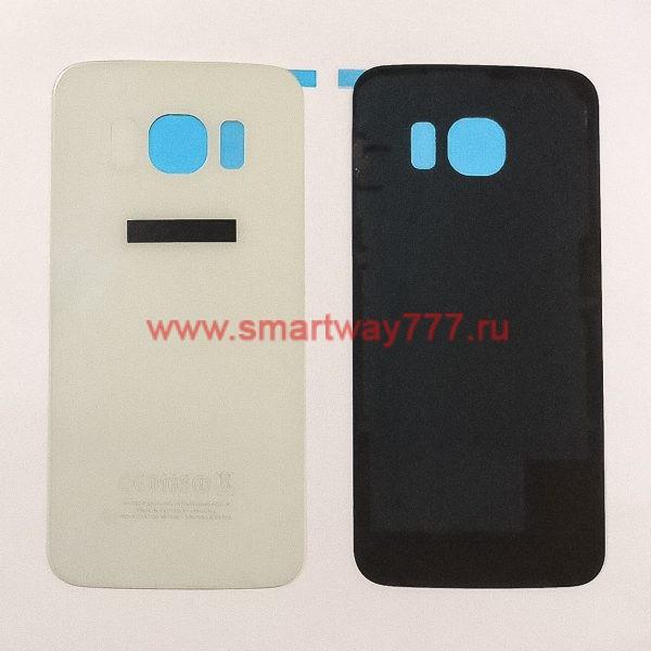 Задняя крышка для Samsung S6 Edge (G925F) Белая
